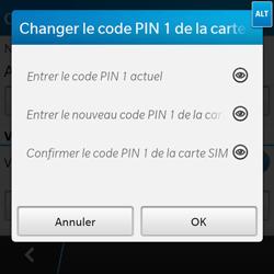 BlackBerry Q10 - Sécuriser votre mobile - Personnaliser le code PIN de votre carte SIM - Étape 8