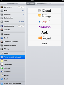 Apple iPad Retina - E-mail - Configurazione manuale - Fase 5