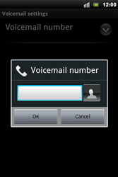 Sony Xperia Mini Pro - Voicemail - Manual configuration - Step 7