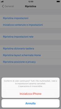 Apple iPhone 6 Plus - iOS 11 - Dispositivo - Ripristino delle impostazioni originali - Fase 8