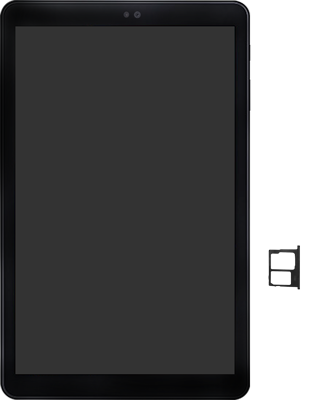 Samsung galaxy-tab-a-10-5-sm-t595-android-pie - Instellingen aanpassen - SIM-Kaart plaatsen - Stap 3