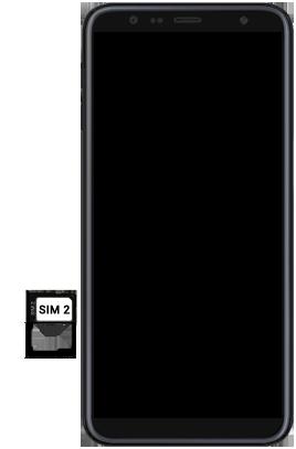 Samsung Galaxy J6 Plus - Toestel - simkaart plaatsen - Stap 9