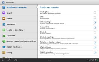 Samsung P7500 Galaxy Tab 10-1 - WiFi - Handmatig instellen - Stap 4