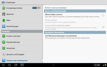 Samsung P5100 Galaxy Tab 2 10-1 - Fehlerbehebung - Handy zurücksetzen - Schritt 7