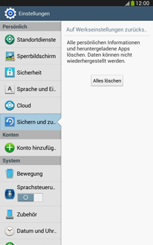 Samsung Galaxy Tab 3 8-0 LTE - Gerät - Zurücksetzen auf die Werkseinstellungen - Schritt 7