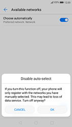 Huawei P9 - Android Nougat - Network - Manually select a network - Step 7