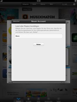 Apple iPad Retina - Apps - Einrichten des App Stores - Schritt 8