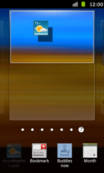 Samsung Galaxy S Advance - Getting started - Installing widgets and applications on your start screen - Step 5