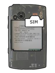 Sony Ericsson Xperia X10 Mini Pro - SIM-Karte - Einlegen - Schritt 3