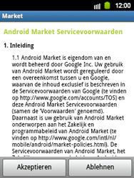 Samsung Galaxy Y - Apps - Konto anlegen und einrichten - 19 / 21