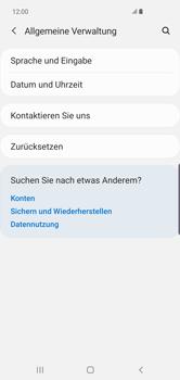 Samsung Galaxy S10 Plus - Fehlerbehebung - Handy zurücksetzen - Schritt 7