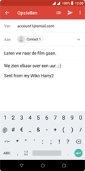 Wiko Harry 2 - E-mail - e-mail versturen - Stap 8