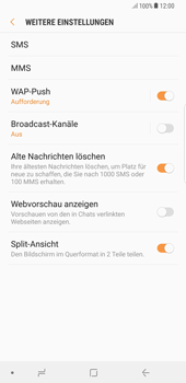 Samsung Galaxy S8 Plus - Android Oreo - SMS - Manuelle Konfiguration - Schritt 7