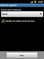 Samsung Galaxy Y - E-mail - Manual configuration - Step 14