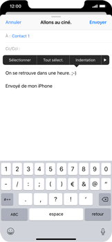 Apple iPhone XR - E-mails - Envoyer un e-mail - Étape 9