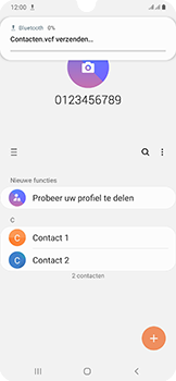 Samsung Galaxy A50 - Contactgegevens overzetten - delen via Bluetooth - Stap 10