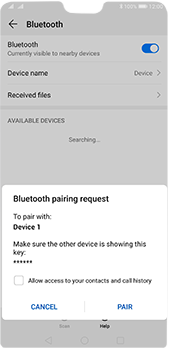 Huawei P20 Pro - Android Pie - Bluetooth - Connecting devices - Step 7