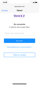 Apple iPhone XS - iOS 13 - E-mail - 032b. Email wizard - Yahoo - Étape 6