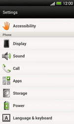 HTC T320e One V - Voicemail - Manual configuration - Step 4