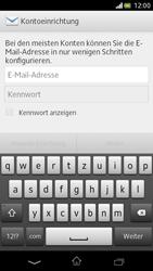 Sony Xperia V - E-Mail - Manuelle Konfiguration - Schritt 4