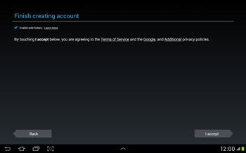 Samsung Galaxy Tab 2 10.1 - Applications - Setting up the application store - Step 12
