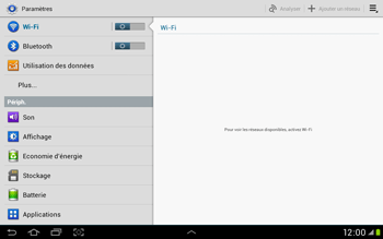 Samsung Galaxy Tab 2 10.1 - Réseau - Sélection manuelle du réseau - Étape 4