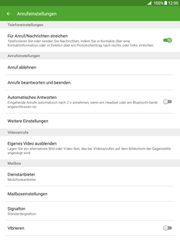 Samsung Galaxy Tab A 9.7 - Anrufe - Rufumleitungen setzen und löschen - 6 / 13