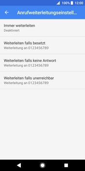 Sony Xperia XZ2 - Anrufe - Rufumleitungen setzen und löschen - 10 / 13