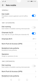 Huawei P30 - Rete - Selezione manuale della rete - Fase 5