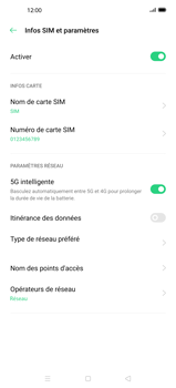 Oppo Find X2 Pro - Internet et roaming de données - Désactivation du roaming de données - Étape 7