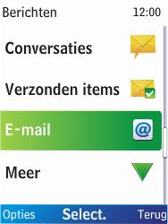 Nokia X2-00 - e-mail - hoe te versturen - stap 4