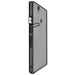 Sony Xperia Z - SIM-Karte - Einlegen - Schritt 5