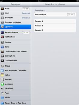 Apple iPad Retina - Réseau - Sélection manuelle du réseau - Étape 8