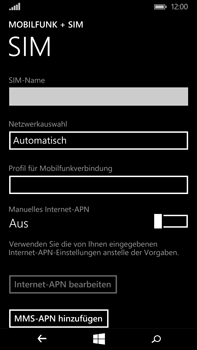 Microsoft Lumia 640 XL - Internet - Manuelle Konfiguration - Schritt 10