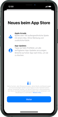 Apple iPhone XR - iOS 13 - Apps - Einrichten des App Stores - Schritt 3