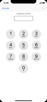 Apple iPhone X - Sécuriser votre mobile - Personnaliser le code PIN de votre carte SIM - Étape 10