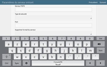 Samsung T805 Galaxy Tab S - E-mail - configuration manuelle - Étape 9