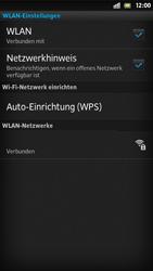 Sony Xperia S - WLAN - Manuelle Konfiguration - Schritt 9