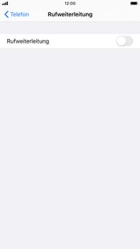 Apple iPhone 8 Plus - iOS 13 - Anrufe - Rufumleitungen setzen und löschen - Schritt 5