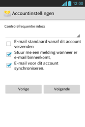 LG E610 Optimus L5 - E-mail - e-mail instellen: POP3 - Stap 15