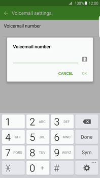 Samsung G928F Galaxy S6 Edge + - Voicemail - Manual configuration - Step 8