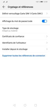 Huawei P30 Pro - Sécuriser votre mobile - Personnaliser le code PIN de votre carte SIM - Étape 6