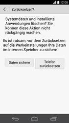 Huawei Ascend P6 - Gerät - Zurücksetzen auf die Werkseinstellungen - Schritt 7