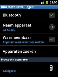 Samsung S5300 Galaxy Pocket - bluetooth - headset, carkit verbinding - stap 10