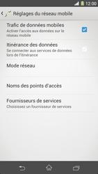 Sony Xperia Z1 - Internet et roaming de données - Désactivation du roaming de données - Étape 7