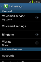 Samsung S6310 Galaxy Young - Voicemail - Manual configuration - Step 6