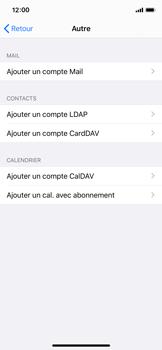 Apple iPhone X - iOS 13 - E-mail - Configuration manuelle - Étape 7