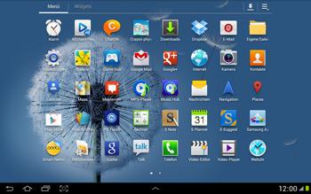 Samsung Galaxy Note 10-1 - Netzwerk - Netzwerkeinstellungen ändern - 3 / 9
