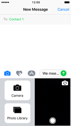 Apple iPhone SE - iOS 10 - MMS - Sending pictures - Step 10