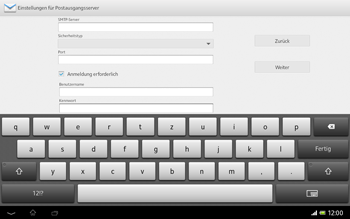 Sony Xperia Tablet Z LTE - E-Mail - Konto einrichten - 2 / 2